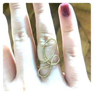 Jewelry - Abstract Gold twist ring